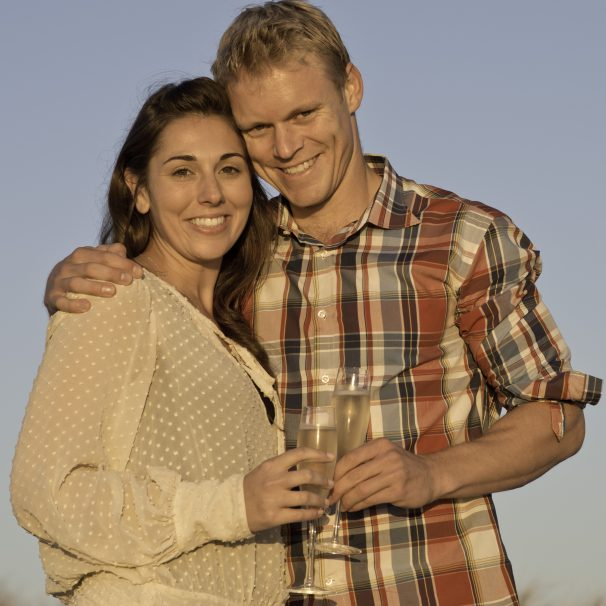 brett and hendrik Proposal Photo