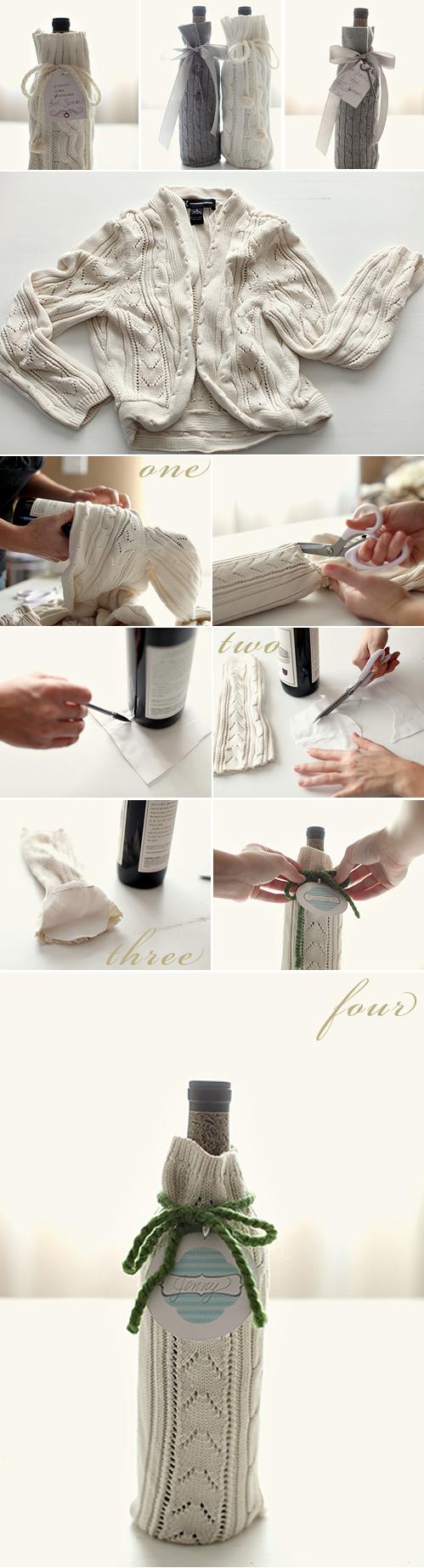 Wedding Blog DIY Wine Wrap