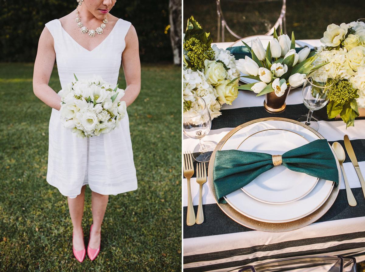 Kate Spade Emerald Gold Wedding Stripes Polka Dots 2 3
