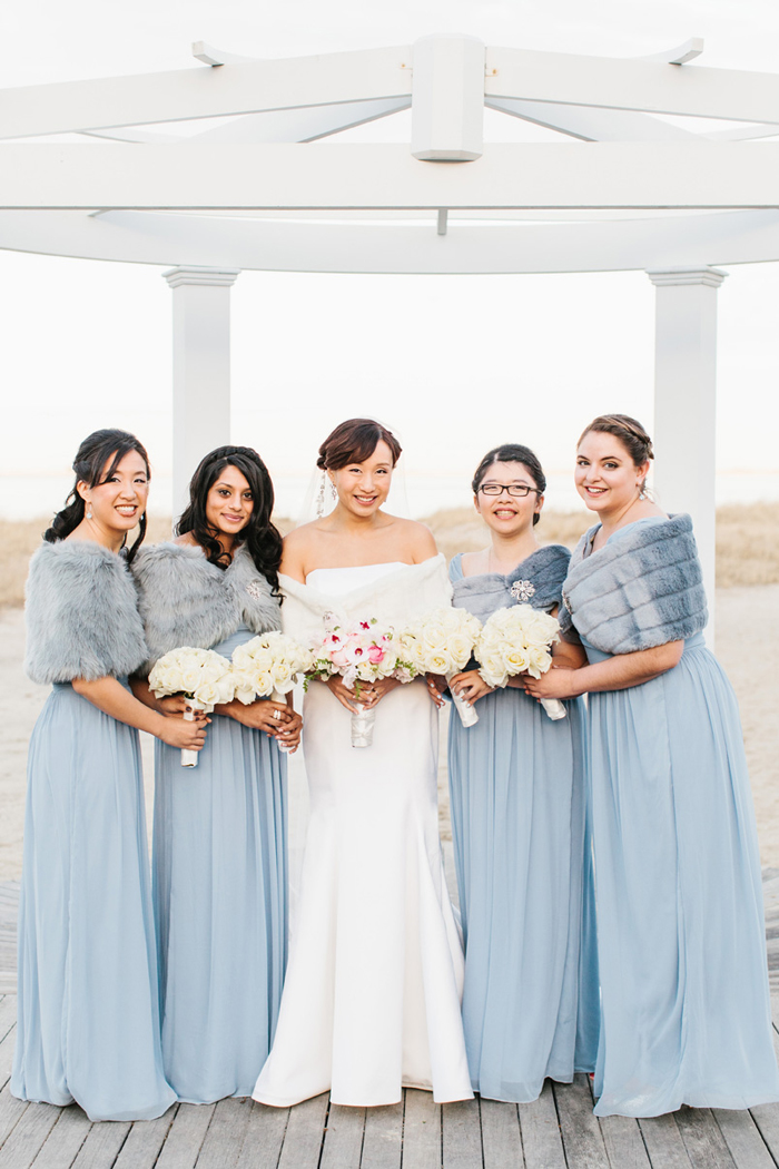 Blue Winter Beach Wedding Erin Mcginn 5