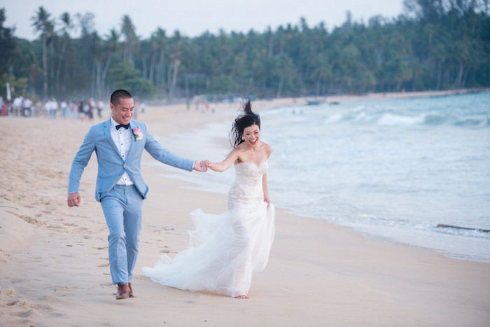 Punchy Bright Destination Thailand Blue Beach Wedding Inspiration50
