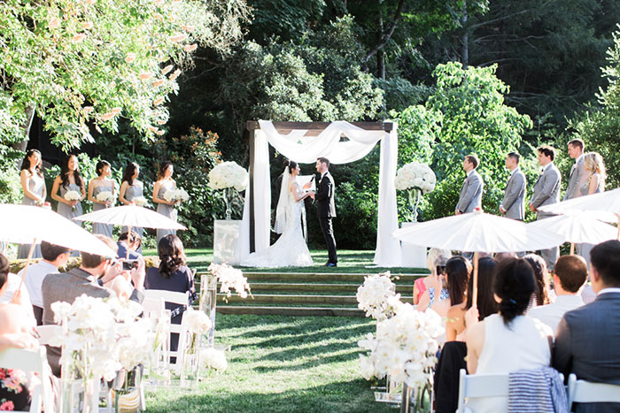 Meadowood Napa Valley Modern Glam Orchid Wedding Inspiration26