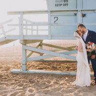 Emily and Christian's Santa Monica Beach wedding